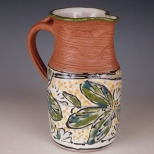 Pitcher: tropical design