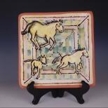 Square plate: 3 Palominos