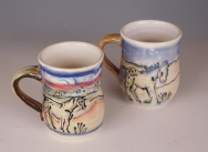 Cups: Horses in the landscape