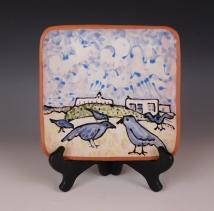 Plate: New Mexico Blue Birds
